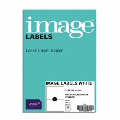 Etiquettes Laser - Coins droits - etiquette Image- Etiquette Blanche format A4 - Antalis