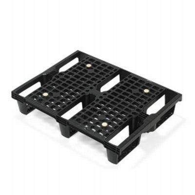 Palette plastique emboîtable 600mmx800mmx150mm, sans rebord de sécurité