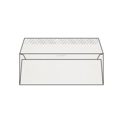 Enveloppe DL 110 x 220 mm sans fenêtre Conqueror Connoisseur 100% Coton, vélin blanc coton, strip, patte droite 120g/m2, 100% coton,