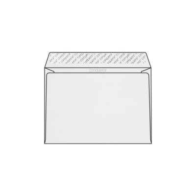 Enveloppe C5 162 x 229 mm sans bande sans fenêtre Conqueror CX22, lisse blanc glacier, strip, patte droite 120g/m2, contient du coton