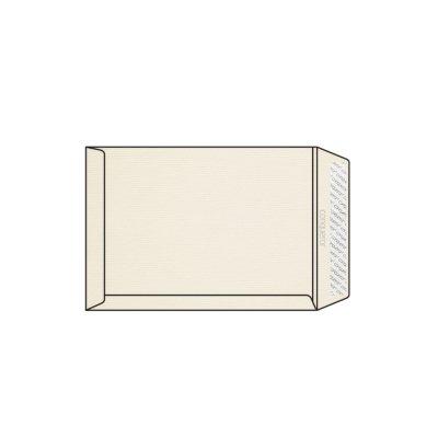 Enveloppe C4 229 x 324 mm sans fenêtre Conqueror vergé, vergé, blanc nacré strip, patte droite, 120g/m2 contient du coton