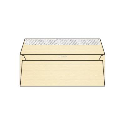 Enveloppe DL 110 x 220 mm sans bande sans fenêtre Conqueror vergé, vergé chamois, strip, patte droite, 120g/m2 contient du coton