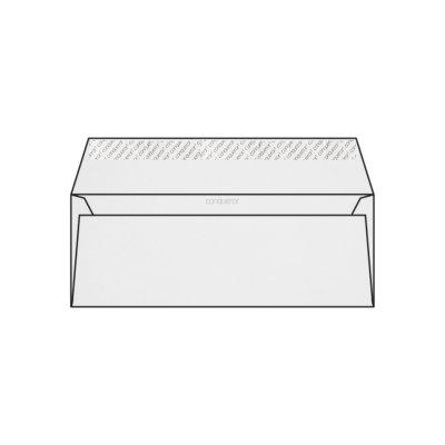 Enveloppe DL 110 x 220 mm sans bande sans fenêtre Conqueror CX22, lisse blanc diamant, strip, patte droite 120g/m2, contient du coton