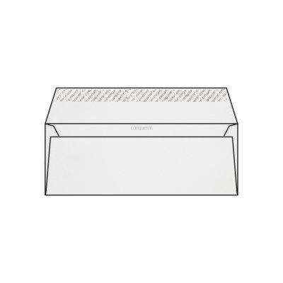 Enveloppe DL 110 x 220 mm sans fenêtre Conqueror CX22, lisse, blanc glacier strip, patte droite, 120g/m2 contient du coton