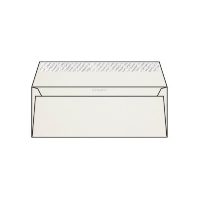 Enveloppe DL 110 x 220 mm sans bande sans fenêtre Conqueror CX22, lisse blanc, strip, patte droite, 120g/m2 contient du coton