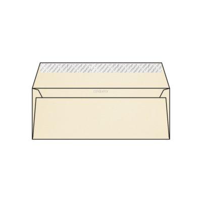 Enveloppe DL 110 x 220 mm sans bande sans fenêtre Conqueror CX22, lisse crème, strip, patte droite, 120g/m2 contient du coton