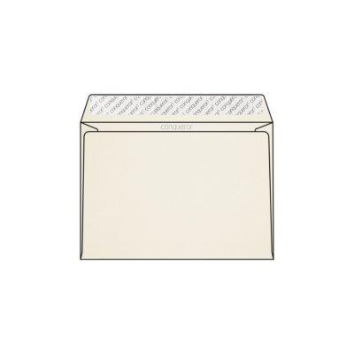 Enveloppe C5 162 x 229 mm sans fenêtre Conqueror CX22, lisse, blanc nacré strip, patte droite, 120g/m2 contient du coton