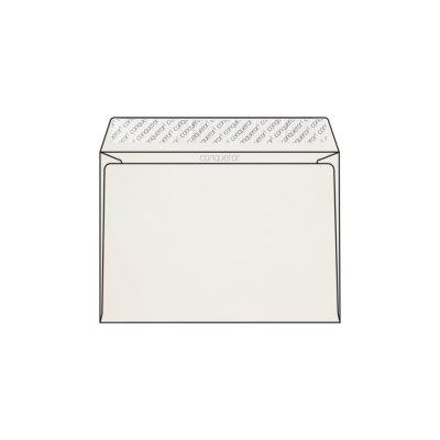 Enveloppe C5 162 x 229 mm sans bande sans fenêtre Conqueror CX22, lisse blanc, strip, patte droite, 120g/m2 contient du coton