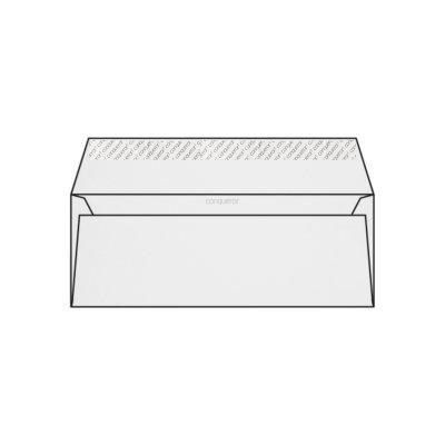 Enveloppe DL 110 x 220 mm sans fenêtre Conqueror 100% recycled CX22, lisse blanc diamant, strip, patte droite 120g/m2, 100% recyclé