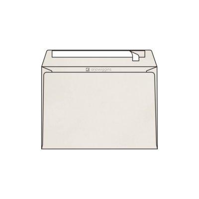 Enveloppe C5 162 x 229 mm sans fenêtre Curious Translucents Clear, vélin, clear strip, patte droite, 112g/m2