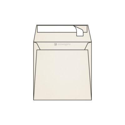 Enveloppes carrées 170 x 170 mm sans fenêtre Rives Tradition marquage au feutre, blanc naturel, strip patte droite, 120g/m2