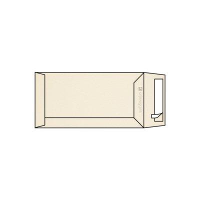 Pochette DL 110 x 220 mm sans fenêtre Rives Tradition marquage au feutre 2 faces ivoire naturel, strip, patte droite 120g/m2