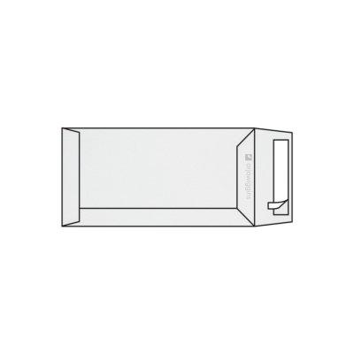 Pochette DL 110 x 220 mm sans fenêtre Rives Tradition marquage au feutre 2 faces, extra blanc strip, patte droite, 120g/m2
