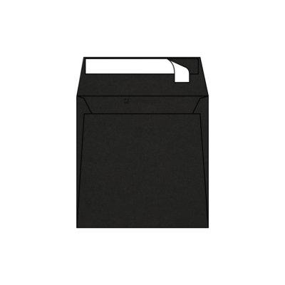 Enveloppe Carrée Pop'Set, 170x170, Enveloppe de creation,Noire, Reglisse, Black, Antalis France