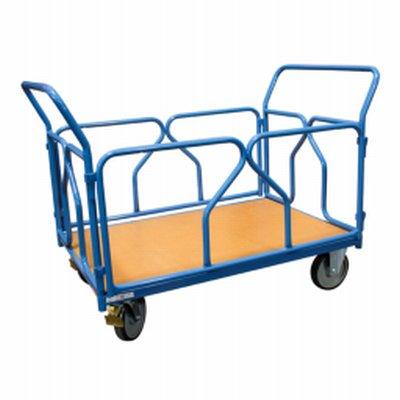 Photo Chariot modulaire 500 kg dossiers et ridelles tube amovibles