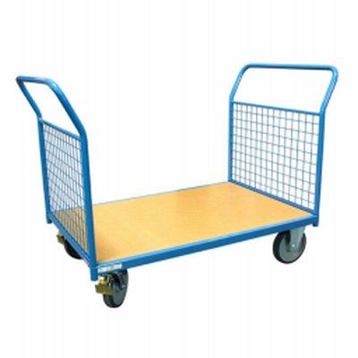 Photo Chariot modulaire 500 kg 2 dossiers grillagés amovibles