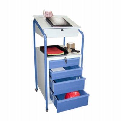 Photo Pupitre d'atelier mobile équipé d'un bloc tiroir
