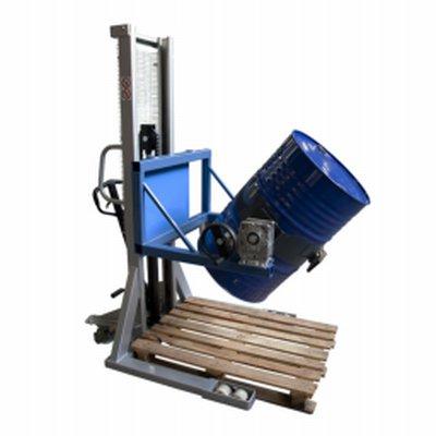 Photo Gerbeur retourneur de fûts métalliques 220 L, 350 kg, levée manuelle