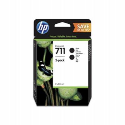 HP 711 Noir Mat Ink 80ml 2 Cart