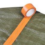 Adhesif plastifie Orange- Ruban adhesif toile - Exterieur et interieur- calfeutrage - protection - masquage- Antalis