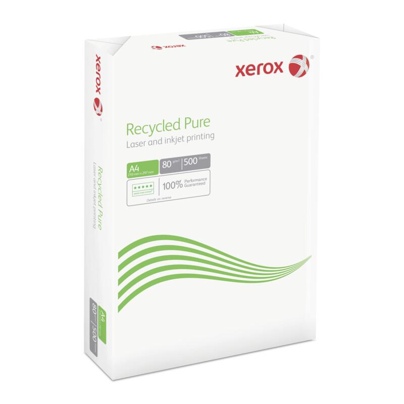 Xerox Recycled Pure- Papier 100% recycle de grande blancheur - Impression laser et jet d'encre Noir - Copieur monochrome - A4- A3 - Antalis