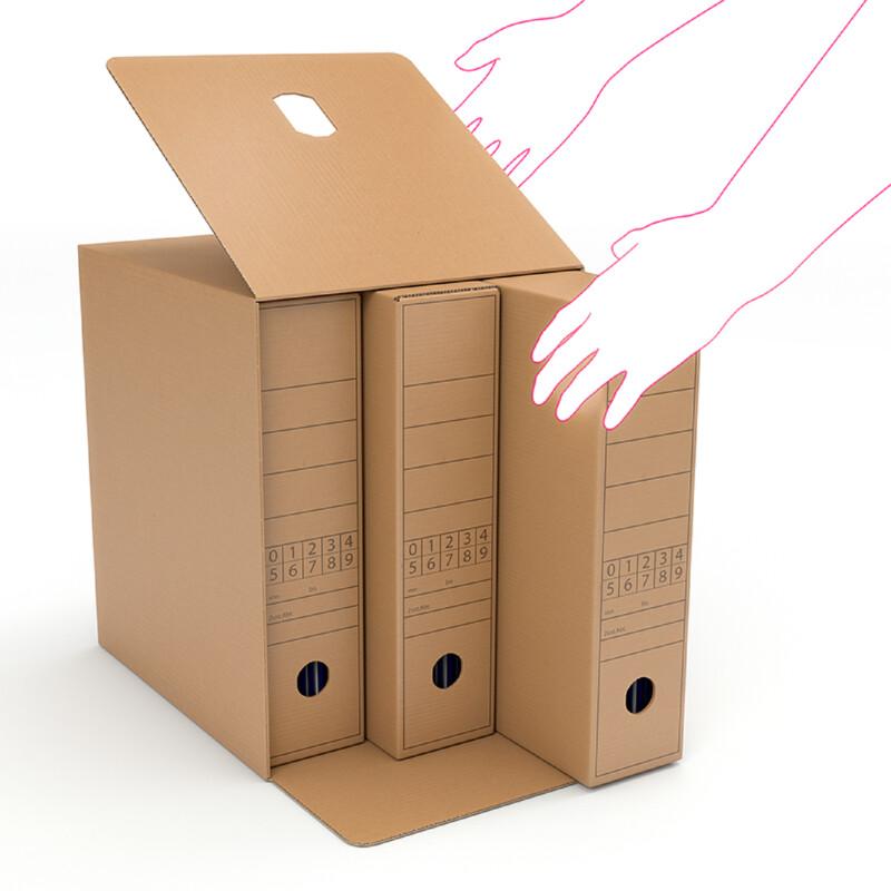 Caisse  Container - Caisse carton pour boites Archives- Rangement de dossier - Protection - Stockage archive- Antalis