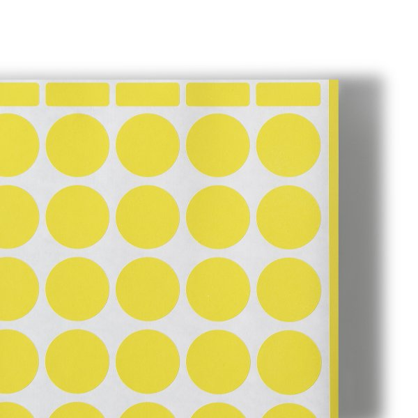 Auto-adhesifs Predecoupes- Artac Grande planche couleur - Fluo rouge - Jaune vif - Impression Offset - Antalis