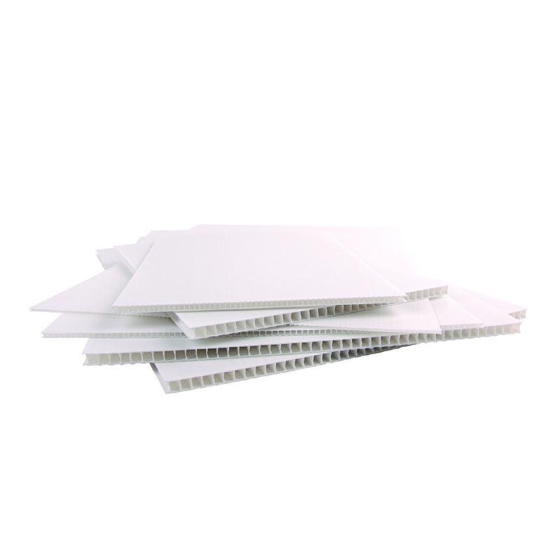 Polypropylene Alveolaire- Biprint Blanc - Supports de communication- Affichage promotionnel -panneau de chantier- signaletique- emballage - Antalis