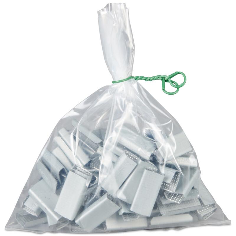 Lien plastifie -vert - Fermeture de sachet - attache de securite - Antalis
