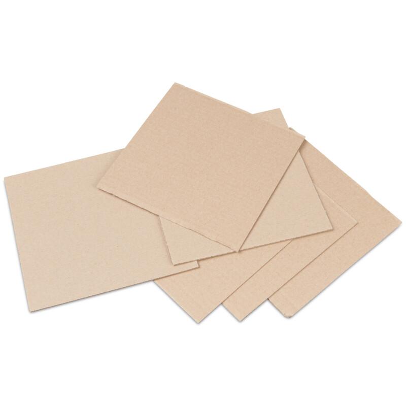 Carton ondulé double face écru produit seul