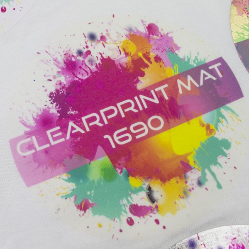 Clearprint Mat- Film imprimable transparent -mat - polyurethane -transfert a chaud sur textiles clairs -Chemica-  Antalis