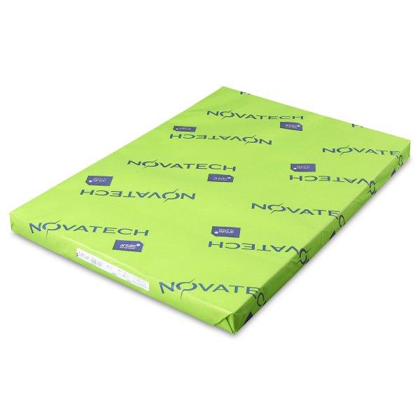 Papier couche brillant- Novatech Digital-certification HP Indigo- garantie Laser toner sec- blancheur et  brillance elevees-Palette de couche-  Antalis