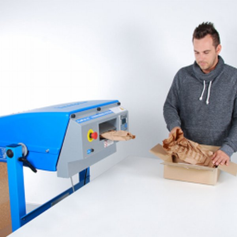 Demonstration d'une machine Padpack LC- Machine de calage- Papier froisse- remplissage- Protection- expedition- Antalis