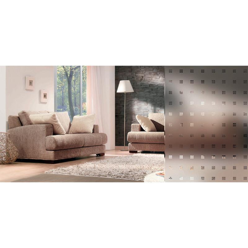 Photo produit Film Dépoli Motif carrés transparents 10 mm PET (INT460)