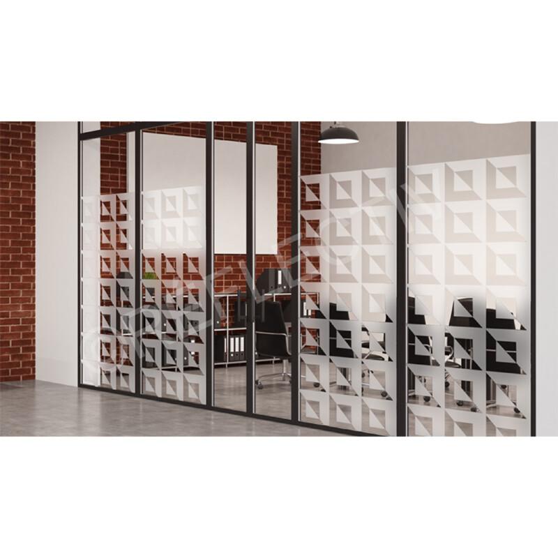 Film Dépoli Motif carrés 3D PET