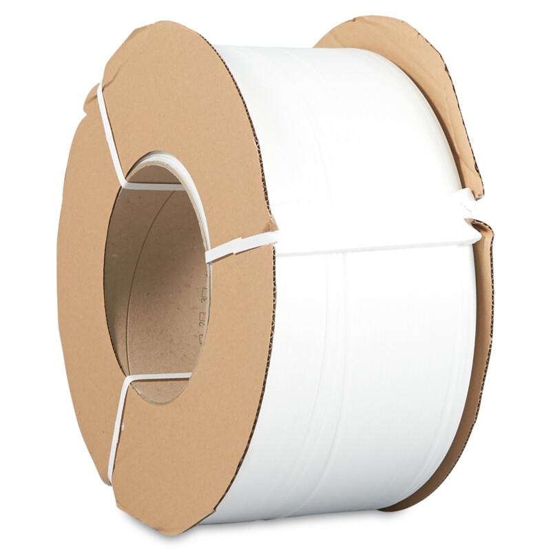 Feuillard machine PP blanc - Feuillard Polypropylene Blanc pour Machine - Feuillard Palette - Antalis