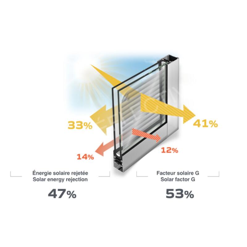 Schéma produit Film Solaire protection 47% PET (SOL145)