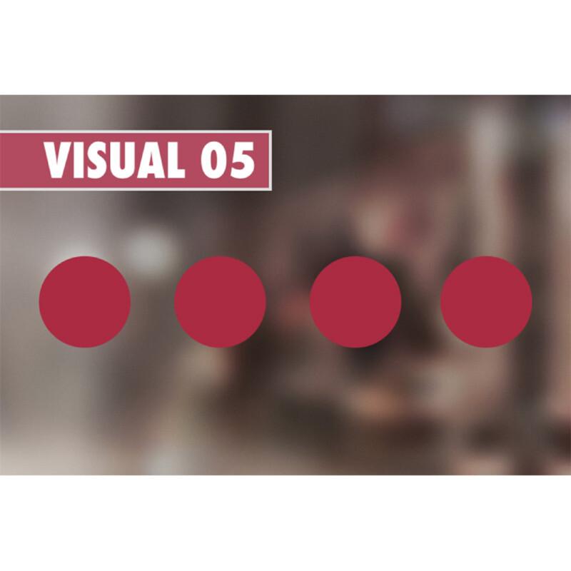 Ronds rouges de 5 cm