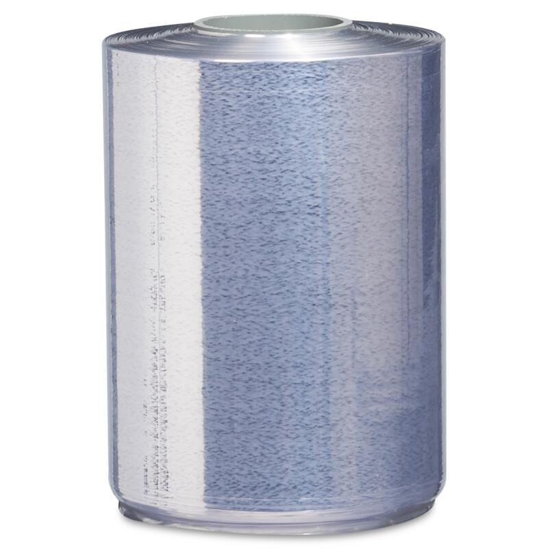 Film rétractable dossé PVC transparent zoom sur la double épaisseur