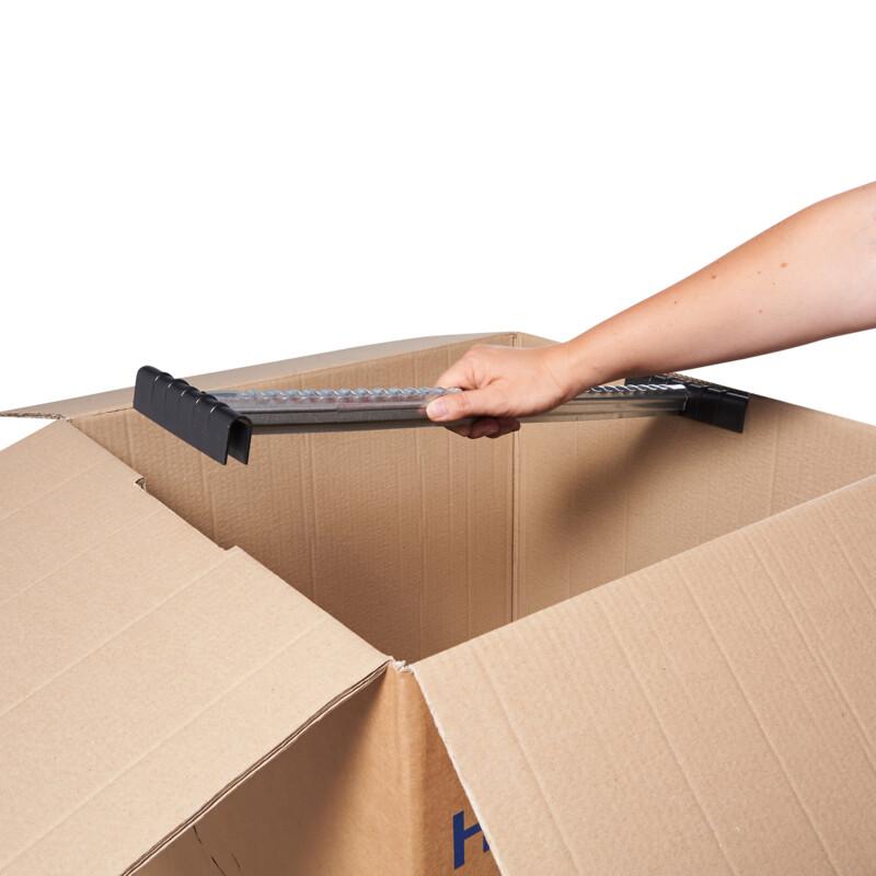 Boite penderie - Carton demenagement - Caisse carton penderie- Permet de suspendre des vetements- caisse double cannelure - resistante au poids - Antalis
