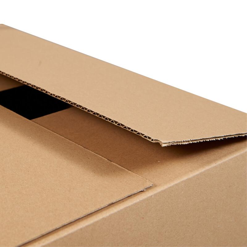 Caisse americaine simple cannelure - ouverture / fermeture- Boite carton - Expedition- Caisse americaine- Caisse carton - fermeture par ruban adhesif - Antalis