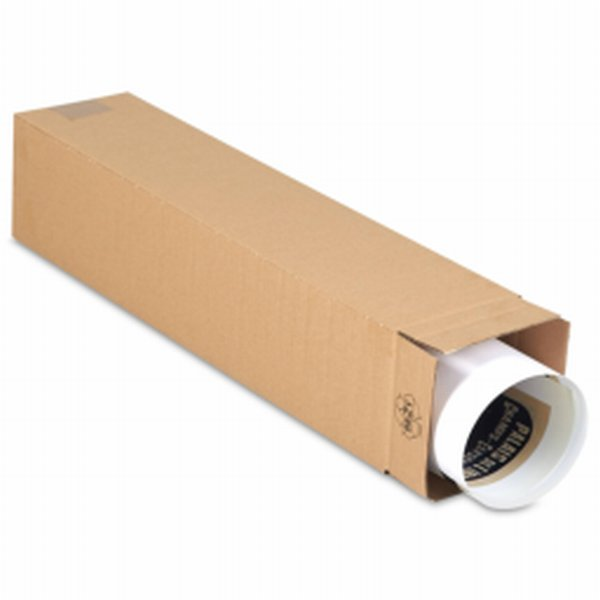 Tube carre brun -tube d'expedition grand format - Tube carton- Antalis