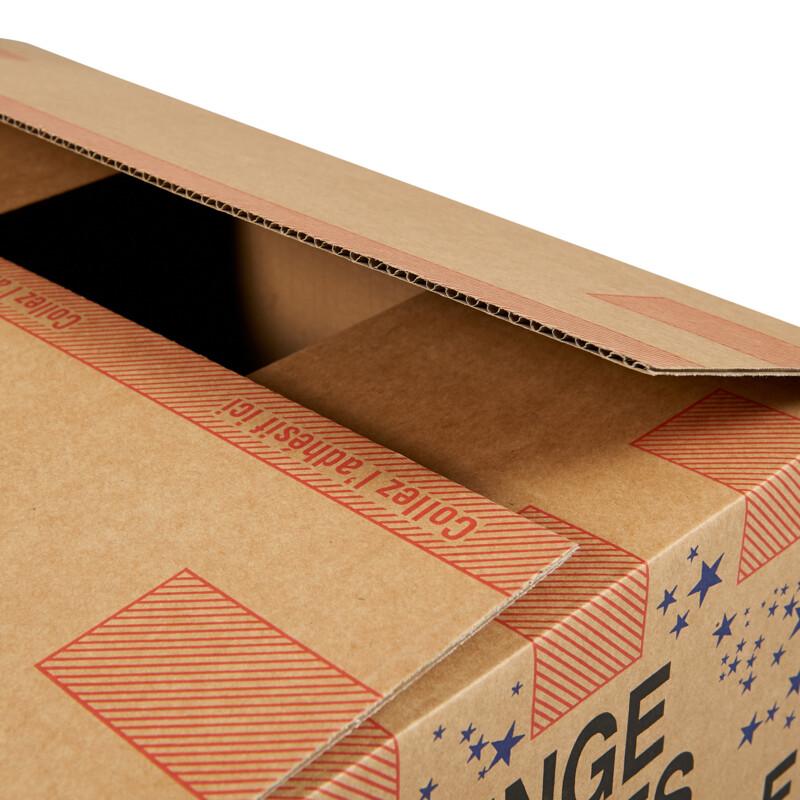 Caisse demenagement - Caisse carton- empilable - resistante au poids - boite pour demenager- Antalis