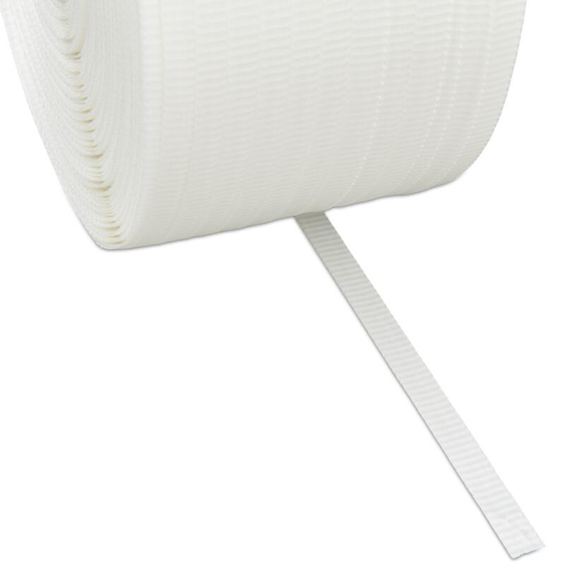 Feuillard Textile - Feuillard tisse blanc - Feuillard Machine - palette - Antalis