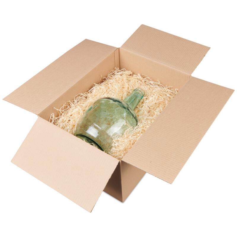 Fibre de bois - solution de  calage ecologique- economique- Protection des produits- emballage d'objet fragile- reutilisable- Conditionnement - Antalis