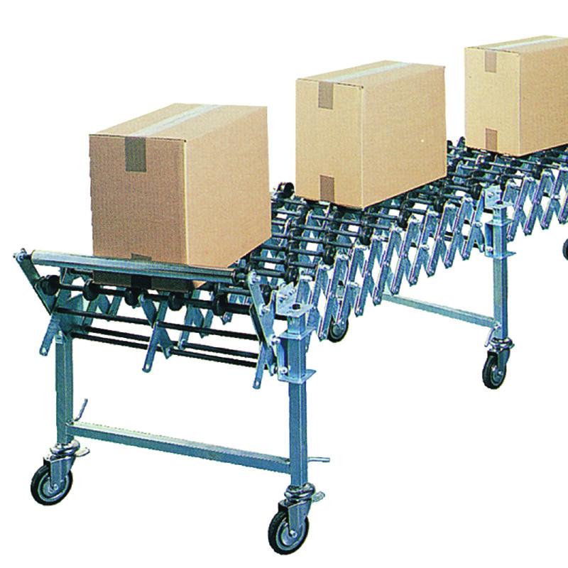 Convoyage de caisse - Convoyeur Extensible A Roulettes Plastiques- SIAT -  GTL / GTM / GTR - Antalis