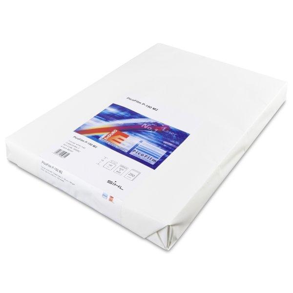 Film polyester d'impression -PicoFilm P-125 M2- Garantie impression laser haute temperature- adapte a un usage exterieur - PLV- bannieres- affiches- menus- Antalis