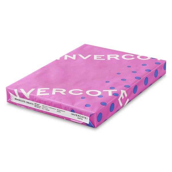 Paquet de Carton graphique -Invercote Creato- Impression Offset - Impression numerique - Certifie HP Indigo - Antalis