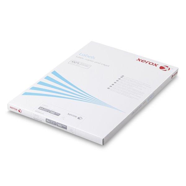 Xerox etiquettes Universelles a coins arrondis- Adhesif permanent- Impression laser noir et blanc- Impression couleur- Antalis