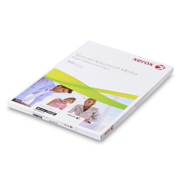 Film adhesif transparent - Xerox- Film Adhesif Transparent- Blanc Brillant- toner EA- Impression laser- Antalis